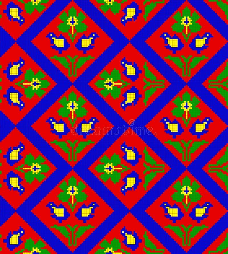 традиционное картины румынское безшовное иллюстрация вектора