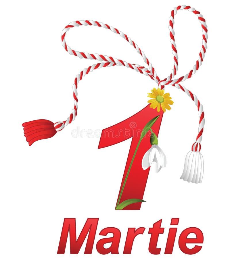 Традиционное румынское iÈ™or› MărÈ торжества 1-ого марта бесплатная иллюстрация