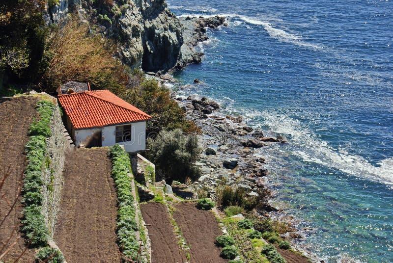 Традиционное село на Mount Athos стоковая фотография