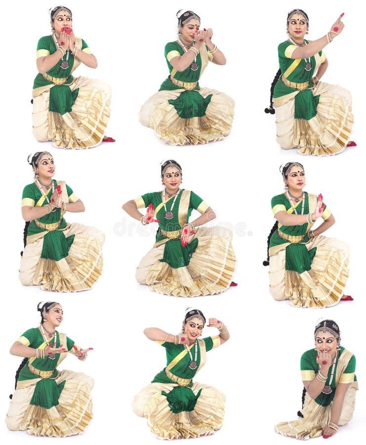 традиционное танцора женское индийское стоковое изображение