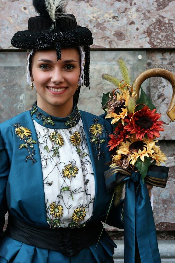 традиционное танцора французское стоковое фото
