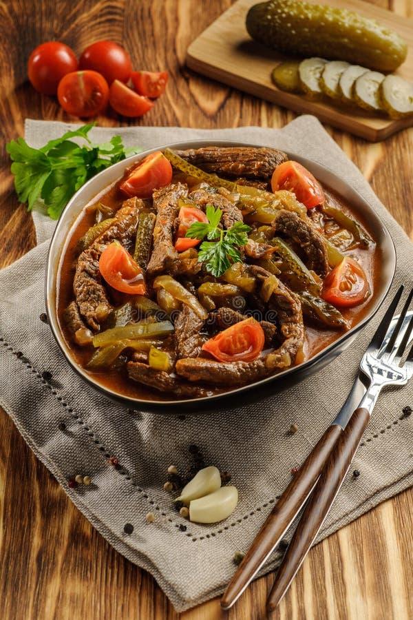 Традиционное татарское azu блюда стоковые фотографии rf