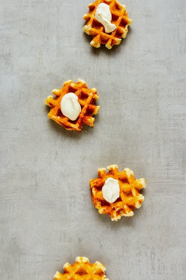 Традиционные бельгийские waffles стоковое изображение rf