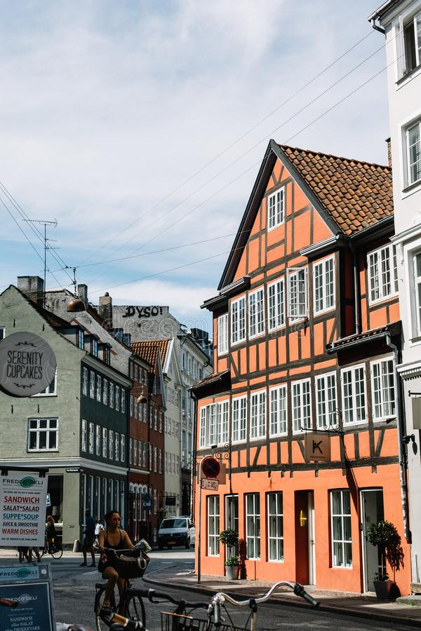 Традиционные датские здания в Копенгагене стоковые фото