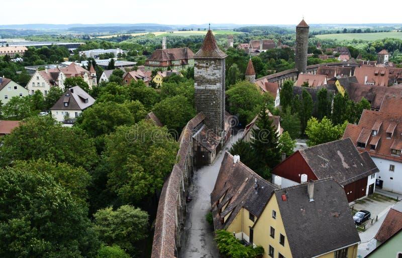 Традиционные здания der Tauber ob Ротенбург, Баварии, Германии стоковые фото