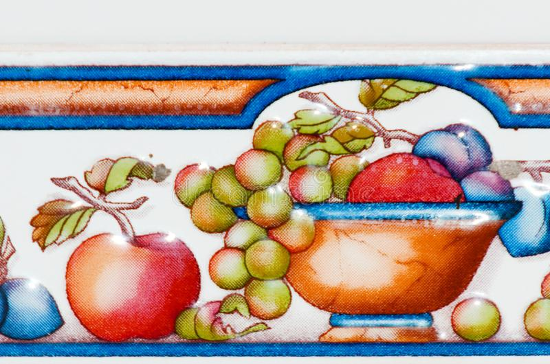 Традиционные орнаментальные испанские декоративные плитки, первоначально cerami стоковые изображения