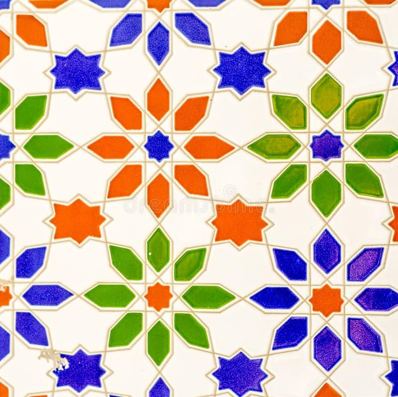 Традиционные орнаментальные испанские декоративные плитки, первоначально cerami стоковая фотография