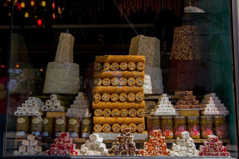 Традиционные помадки турецких наслаждений стоковые фотографии rf