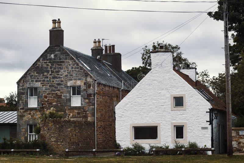 Традиционные 2 старых шотландских дома стоковые фото