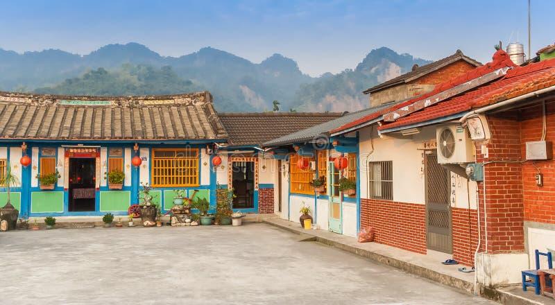 Традиционные тайваньские дома кирпича близко к Ershui стоковые изображения rf