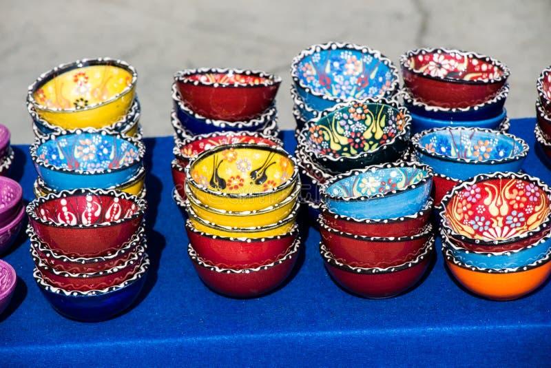 Традиционные турецкие керамические плиты стоковые изображения