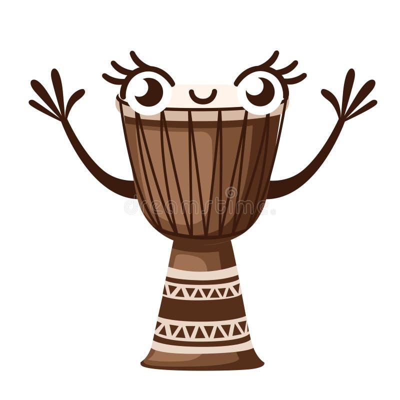 ?????? ????????? ?? ??????????? Традиционный африканский талисман барабанчика музыРбесплатная иллюстрация