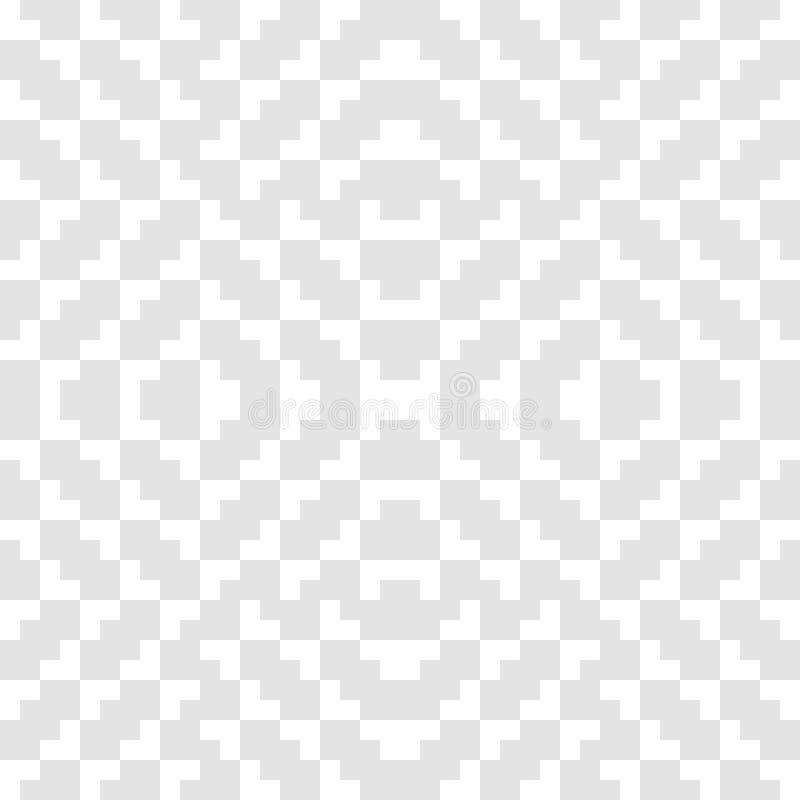 Традиционный геометрический орнамент фольклора Племенной этнический мотив иллюстрация вектора