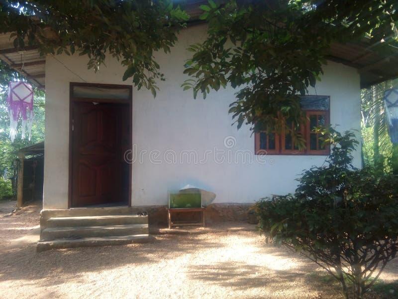 традиционный дом в Шри-Ланка стоковое изображение rf