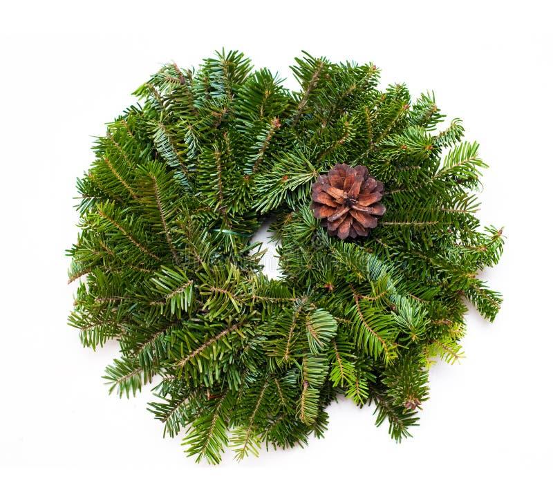 Традиционный зеленый венок рождества стоковая фотография rf