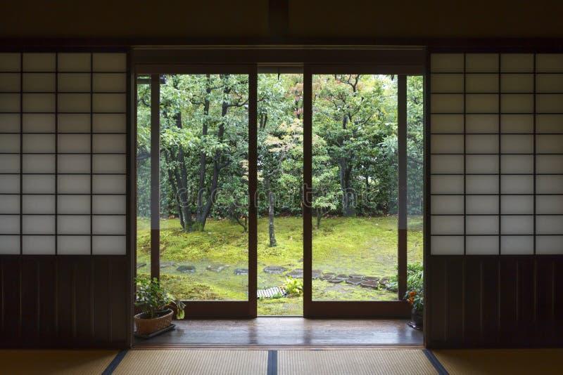 Традиционный интерьер дома в Японии стоковые фотографии rf