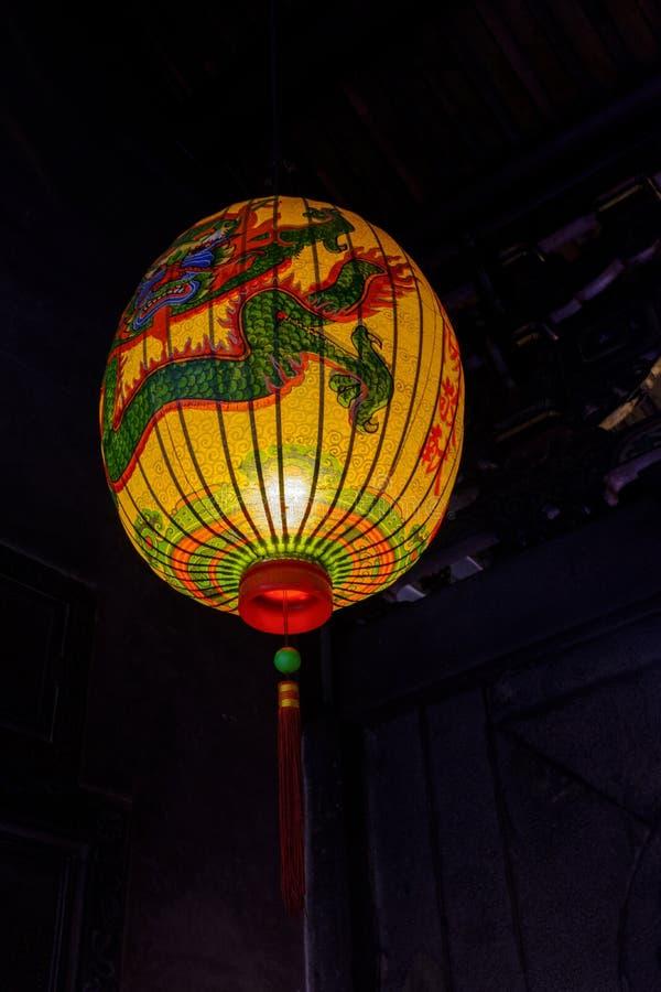 Традиционный китайский украсил фонарик стоковые фото