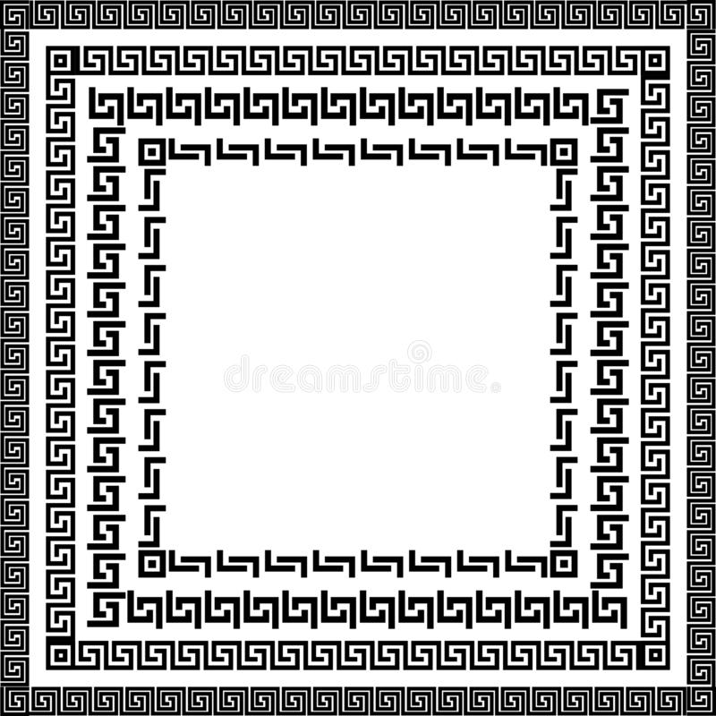 Традиционный простой меандр иллюстрация вектора