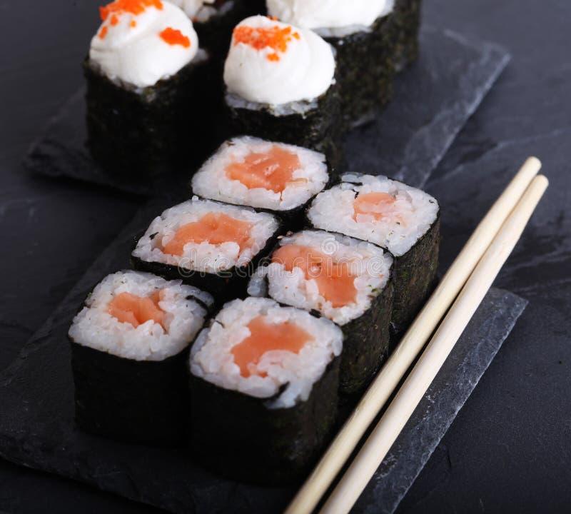 Традиционный японский конец еды вверх стоковые фотографии rf