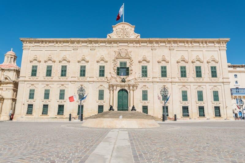 Трактир de Castille в Валлетте, Мальте стоковые изображения