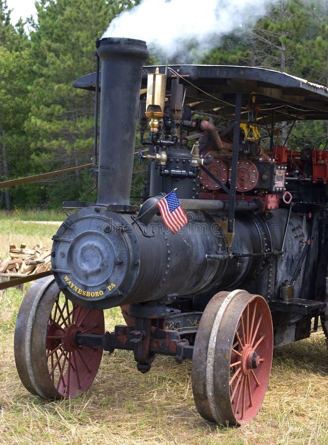 трактор времени пара двигателя старый стоковая фотография rf