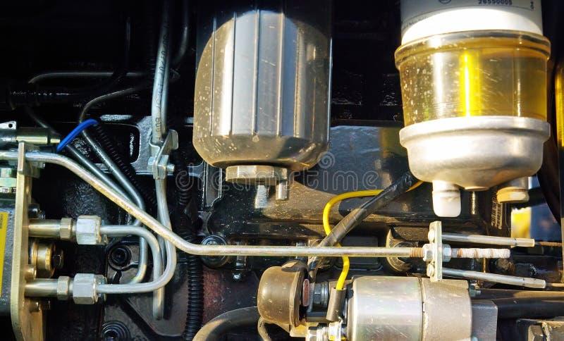 трактор двигателя стоковое изображение rf