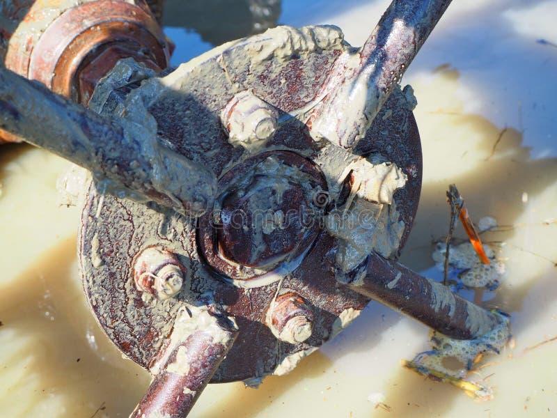 Трактор колеса стоковое изображение