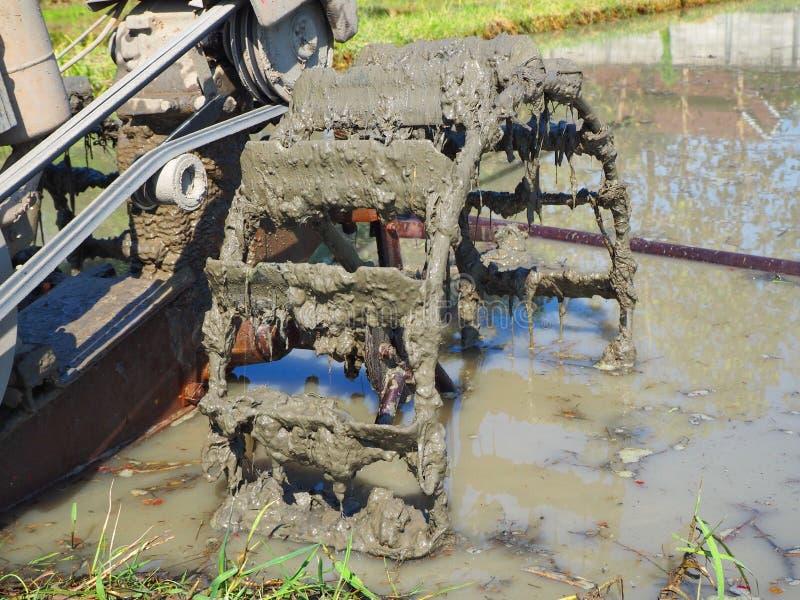 Трактор колеса стоковые фото