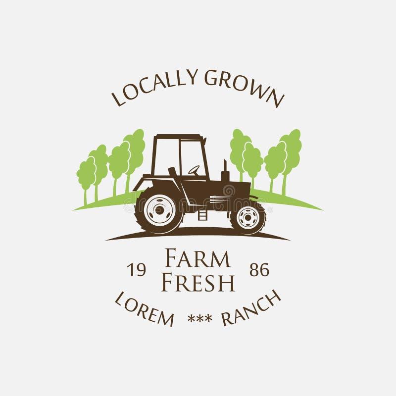 Трактор логотипа - иллюстрация вектора стоковая фотография rf