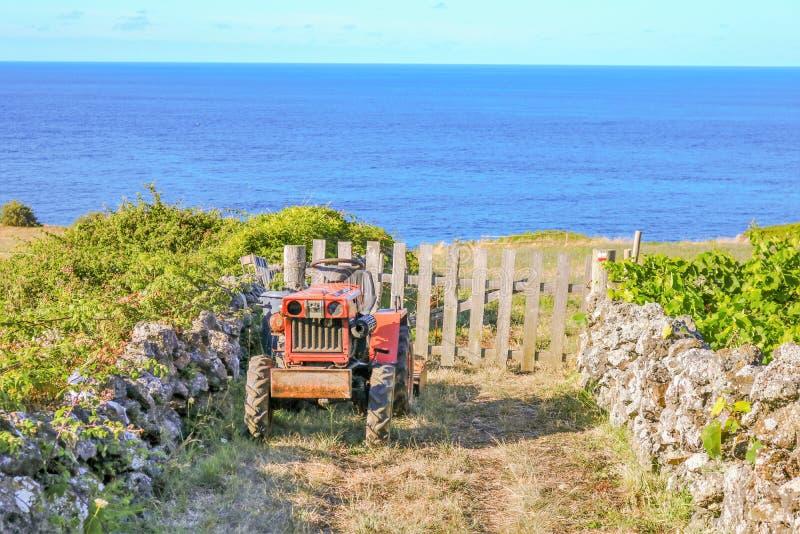 трактор фермы старый стоковые изображения rf