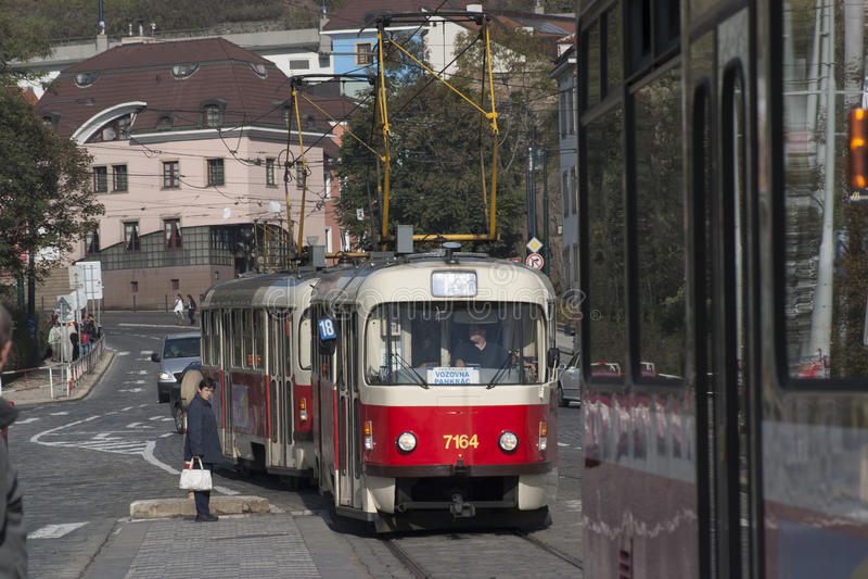 Трамваи в Праге стоковое фото