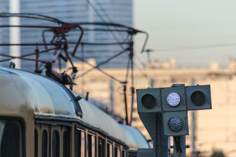 Трамваи в южной части Москвы стоковое фото rf