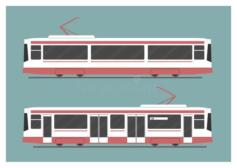 Трамвайная линия бесплатная иллюстрация
