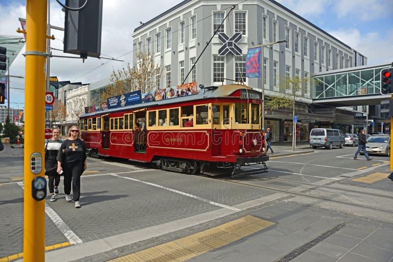 Трамвайные туры по центру города Крайстчерч стоковые фото