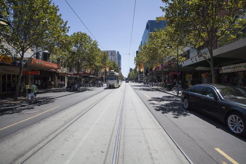 Трамвай в городе Мельбурна стоковые фото