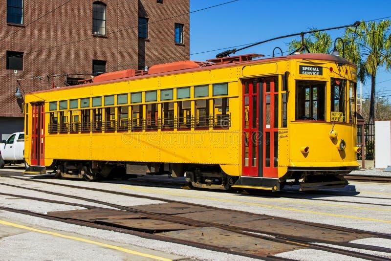 Трамвай в городе Ybor стоковая фотография