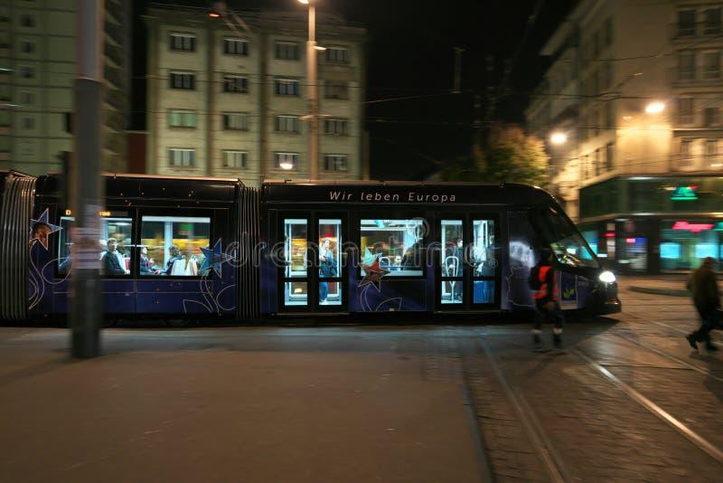 Трамвай в страсбурге во Франции стоковое фото rf