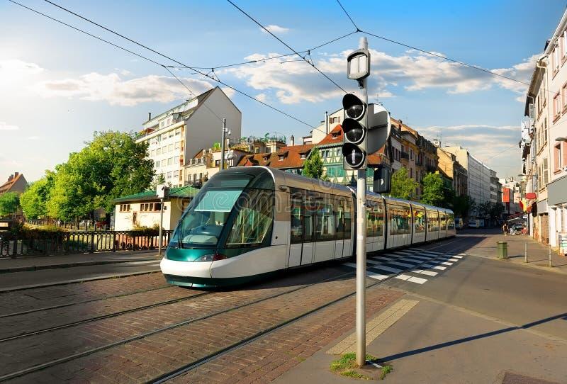 Трамвай в страсбурге стоковое изображение