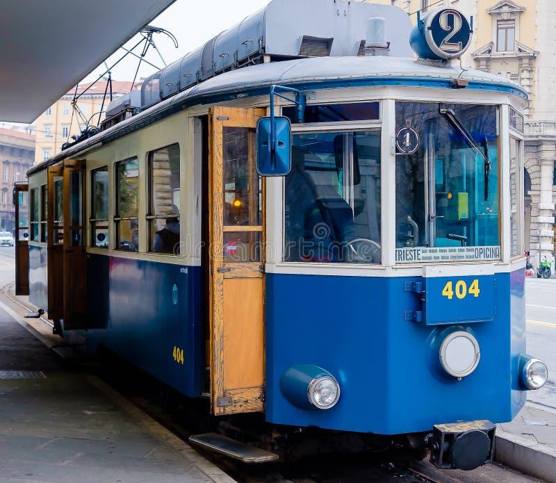 Трамвай в Триесте стоковое фото rf