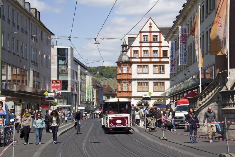 Трамвай в Wurzburg, Германии стоковые фото