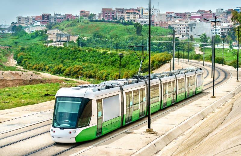 Трамвай города в Константине, Алжире стоковое изображение rf