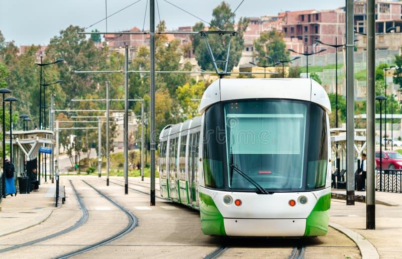 Трамвай города в Константине, Алжире стоковые изображения rf