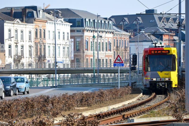 Трамвай города стоковые изображения rf