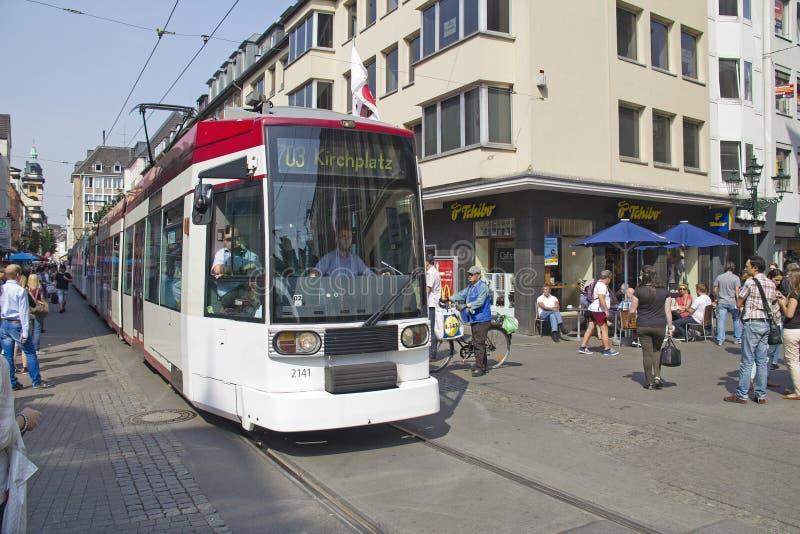 Трамвай Дюссельдорфа стоковое изображение rf