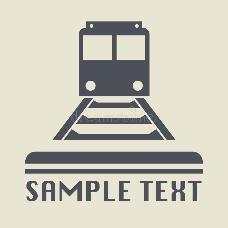 Трамвай или значок или знак поезда иллюстрация штока