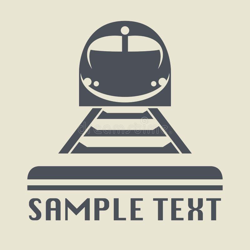 Трамвай или значок или знак поезда иллюстрация вектора