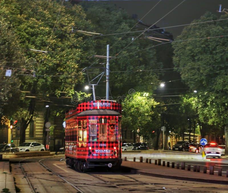 Трамвай милана стоковые фотографии rf