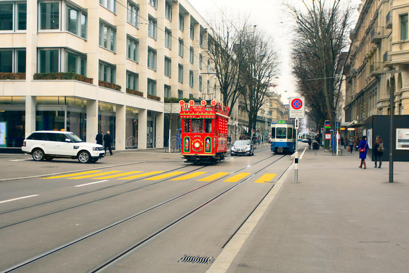 Трамвай рождества стоковое фото rf
