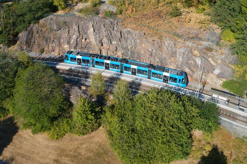 Трамвай Lidingo на стопе стоковые изображения