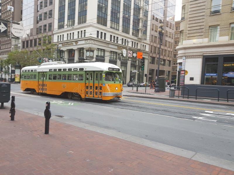 Трам в Сан-Франциско стоковые изображения